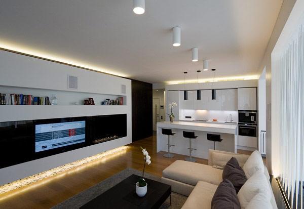 izkliuchitelno moderen i krasiv apartament v rusiq apartment lighting ideas