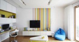 Апартамент с Модерен интериор и Ярки цветове
