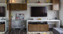 Как едностаен апартамент побира хол, спалня, кухня и трапезария [ +Видео ]