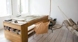 Мебел, която се трансформира от голямо бюро в удобно легло за секудни