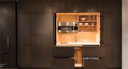 Какво ще кажете за кухня, която може да бъде скрита в стената?