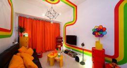 Домът на дъгата – Свеж апартамент в ярки цветове