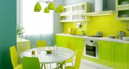 Идеи за интериор на кухнята в зелено