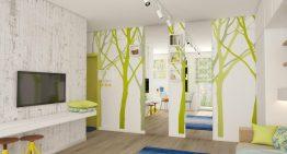 Малък апартамент с хитри идеи в свежи цветове