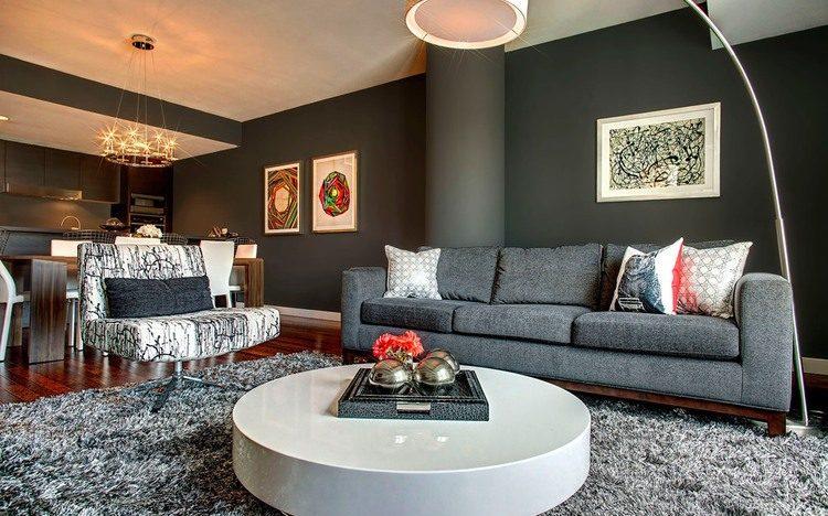 Впечатляващ апартамент с разнообразни цветове и текстури в Лос Анджелис