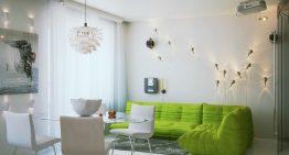 Малък апартамент с красив и идеен интериор в Санкт Петербург
