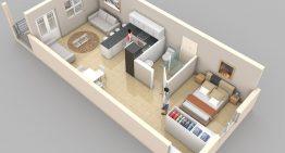 Впечатляващи етажни планове на малки жилища