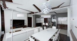 Апартамент в Москва показва забележителен дизайн