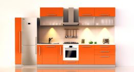 Идеи за интериор на кухнята в оранжево
