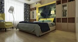 Интериорен проект на спалня с модерен дизайн и много удобства
