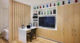 Невероятен интериор на микро апартамент с обща площ от 32 м²