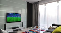 Просторен апартамент с модерен футуристичен дизайн