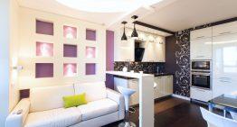Модерен и удобен интериор на хол и кухня в едно