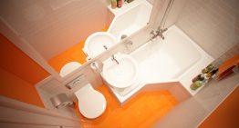 Когато банята е само два квадрата, а искаш вана (2 м²)