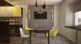 Стилен и удобен интериор на кухня и трапезария