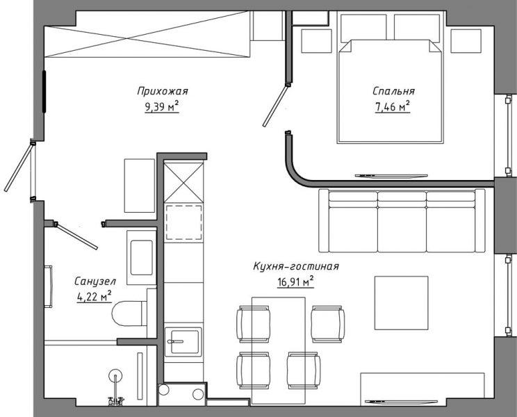 malak-apartament-s-hol-kuhnq-i-trapezariq-v-edno-pomeshtenie-8g