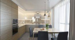 Модерен и функционален дизайн за кухня + трапезария