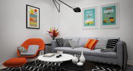 Апартамент в бяло със семпъл, но практичен интериор