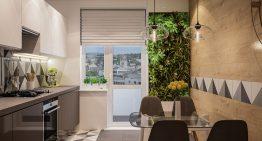 Модерен дизайн на кухня в панелен апартамент