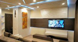 Апартамент с модерен дизайн и динамично LED осветление