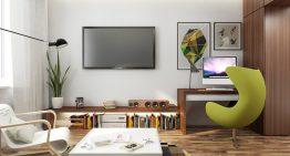 Проект за малък апартамент със семпъл, но свеж дизайн