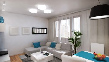 Модерен проект за интериор на апартамент в неутрални цветове