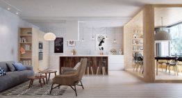 Страхотен проект на апартамент с много отворени пространства