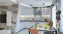 Проект за хол и кухня с нестандартни идеи за обзавеждане