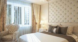 Проект за малка спалня в съвременен класически стил