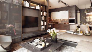 Просторен апартамент с елегантен интериор в неутрални цветове