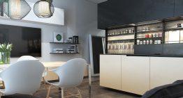 Модерен и функционален проект за студио [39 м²]