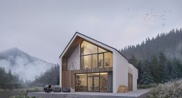 Проект за съвременна двуетажна къща сред природата