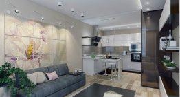Стилен проект за двустаен апартамент [50 м²]