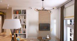 Съвременен проект за апартамент с просторен интериор [63 м²]