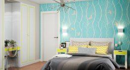 Свеж и функционален проект за спалня + тераса