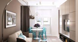 Модерен и практичен интериорен дизайн за двустаен апартамент [68 м²]