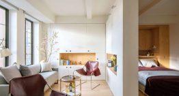 Нестандартен и изключително функционален малък апартамент [37 м²]