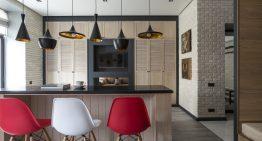 Светъл интериор на малък апартамент с Азиатски мотиви