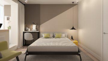Семпъл проект за малка спалня с приобщен балкон