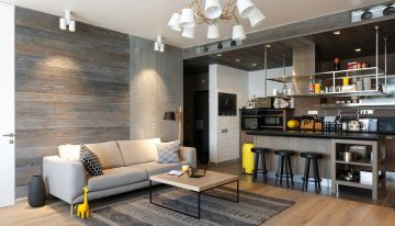 Просторен апартамент с красив интериор в индустриален стил [100 м²]