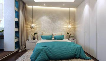 Модерен и практичен дизайн на спалня с приобщен балкон