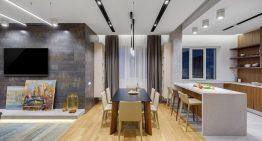 Модерен интериорен проект за просторен апартамент