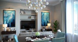 Стилен тристаен апартамент с интересен подбор на цветове [77 м²]