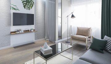 Съвременен живот под наем – идеен проект за малко жилище [38 м²]