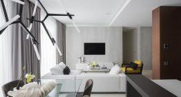 Модерен и просторен интериор на апартамент с площ от 100 м²