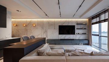 Модерен и просторен апартамент на два етажа с изглед към река Днепър [110 м²]