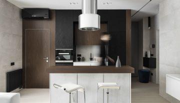 Малък апартамент с функционален дизайн и модерна визия