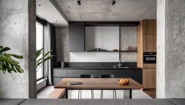 Апартамент със стъклена баня в Киев [82 м²]